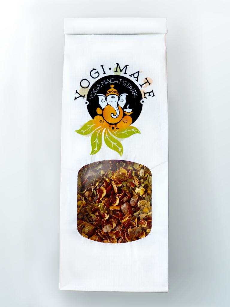Yogi-Mate Tee mit Ganesha. Der koffeinhaltige Yogitee für eine angenehm wache Gelassenheit